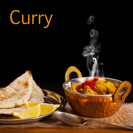 Curry Concept with Steam Stock Photo