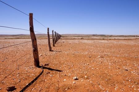 Fenceline in Outback Australia