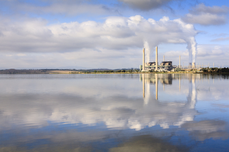 Lake Liddell Power Station Australia 版權商用圖片
