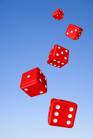 Tumbling Dice and Sky Stock Photo