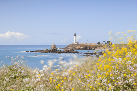 Pigeon Point Lighthouse California Stock Photo