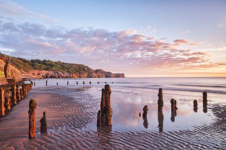 Sunrise Sandsend, Whitby, North Yorkshire UK