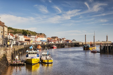 Whitby Harbour North Yorkshire UK Editorial