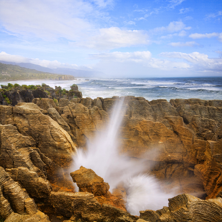 Punakaiki or Pancake Rocks New Zealand