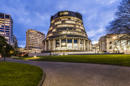 Wellington The Beehive Parliament Buildings New Zealand