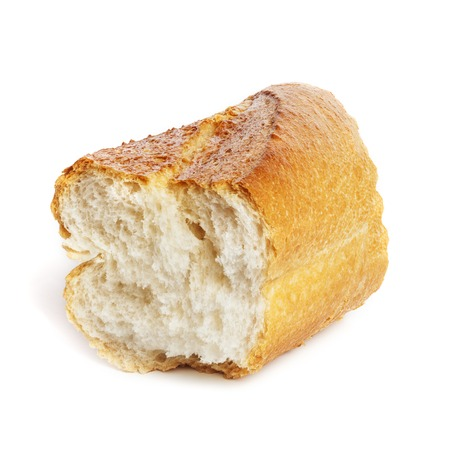 Baguette Chunk Isolated on Wnite