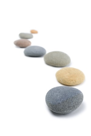 Snaking Line of Stones, Upright Stock Photo