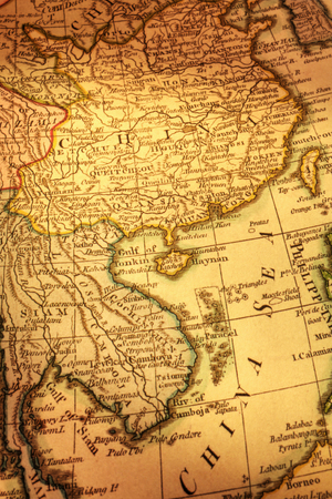 Old Map of China and Indochina