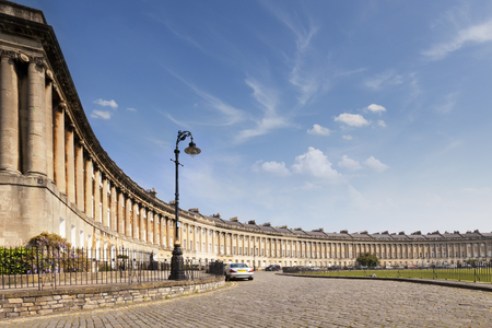 Bath Royal Crescent Somerset England Archivio Fotografico - 101594377