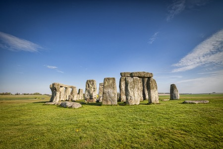 Stonehenge in Spring Stock Photo