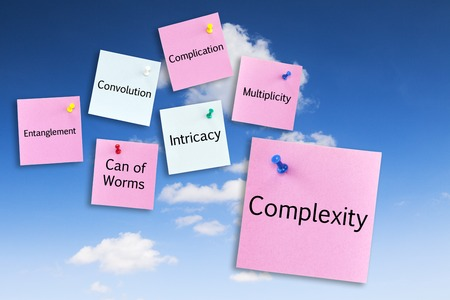Complexity Concept on Blue Sky