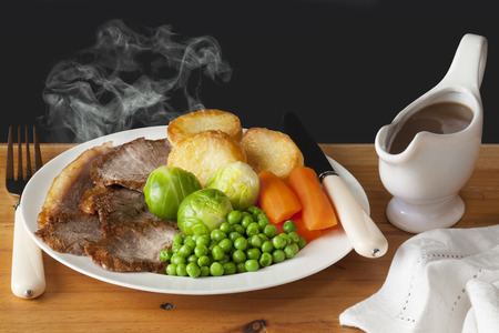 Roast Beef Concept Stock Photo