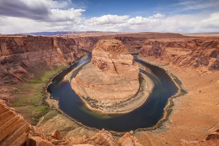 Horseshoe Bend, Glen Canyon, Arizona Banco de Imagens
