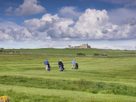 Whitby Golf Course and Players Walking