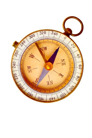 Old Compass Isolated on White