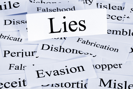 Lies and Evasion Concept Stock Photo