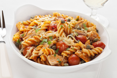 Pasta Bake with Tuna and Tomatoes