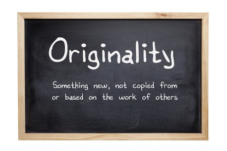 Originality concept in words Stock Photo