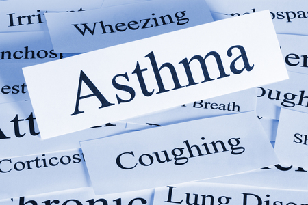 Asthma Concept in Words