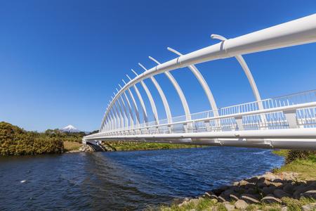 Puente Te Rewa Rewa New Plymouth Nueva Zelanda Foto de archivo - 107706222