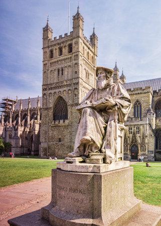 Richard Hooker Statue Exeter UK