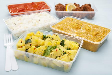 Takeaway Indian Food Aloo Saag Chicken Tikka Bhoona Curry Bhaji
