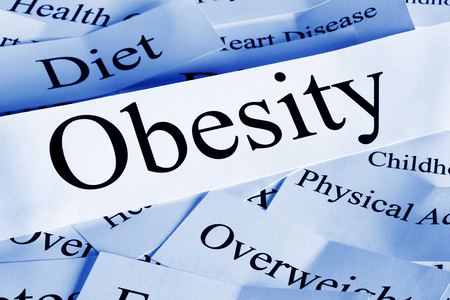 Obesity Concept in Words Фото со стока