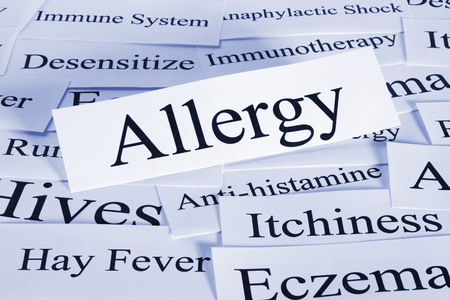 Allergy Concept in Words