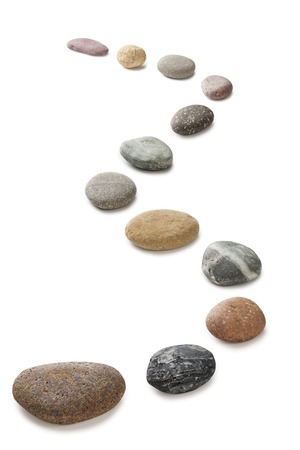 Stepping Stones Pebbles on White