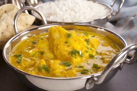 Fish Curry and Accompaniments