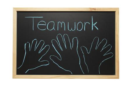 Blackboard Teamwork Hands Stock fotó