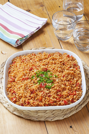 Spanish Rice with Green Chilli