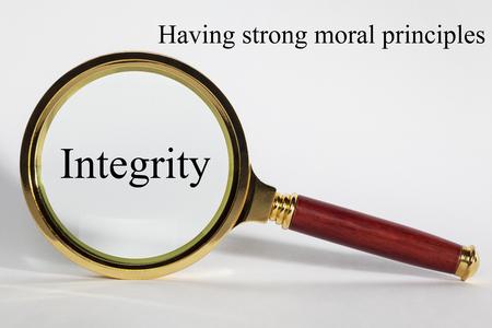 Concetto di integrità e lente di ingrandimento