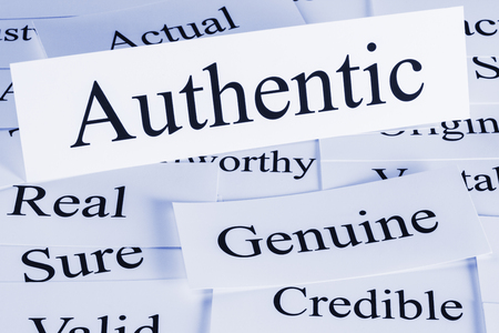 Authentic Concept in Words Stock Photo