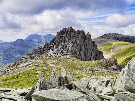 Castillo de los vientos, el Parque Nacional de Snowdonia, Gales, Reino Unido Foto de archivo - 108807988