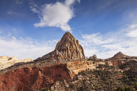Capitol Dome Capitol Reef National Park Utah Stock Photo