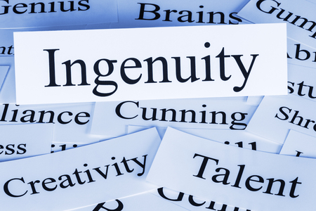 Ingenuity Concept - a conceptual look at ingenuity, creativity, talent, genius, cunning
