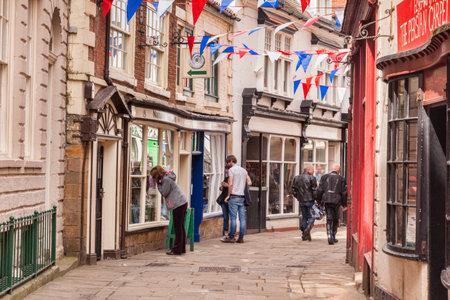 Shopping Whitby North Yorkshire UK