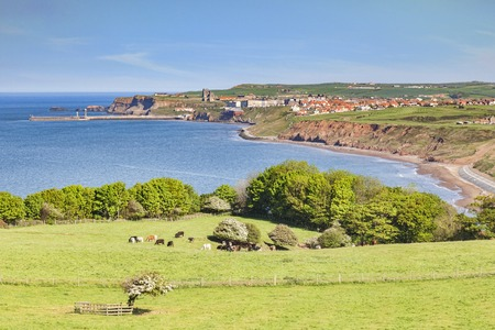 Whitby from Lythe Bank North Yorkshire UK