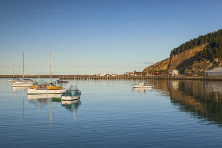 Oamaru Harbour New Zealand Stockfoto