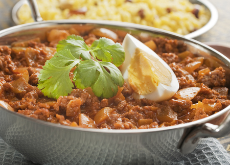 Balti Keema Curry and Rice