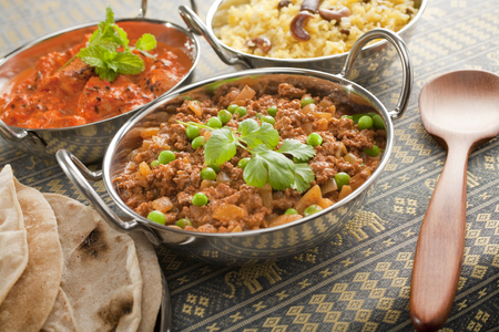 Indian Curry in Balti Dishes Stock Photo