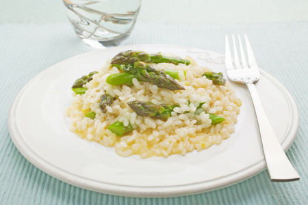 Asparagus Risotto Plated