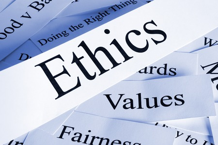 Ethics Concept in Words