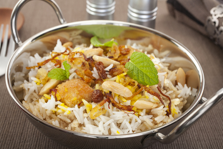 Chicken Biryani Indian Curry Food Cuisine Meal Rice Pillau