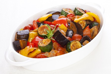 Ratatouille on White 免版税图像