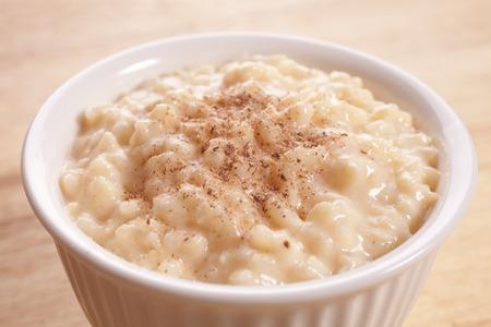 Rice Pudding with Nutmeg 版權商用圖片