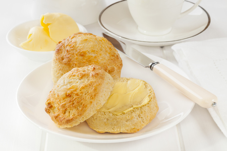 Cheese Scones and Butter