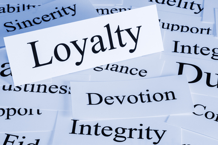 Loyalty Concept in Words Foto de archivo