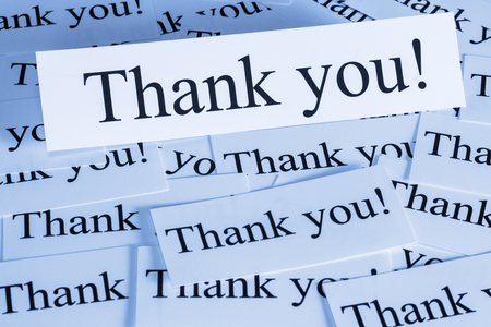 Thank You Words Concept Stock Photo